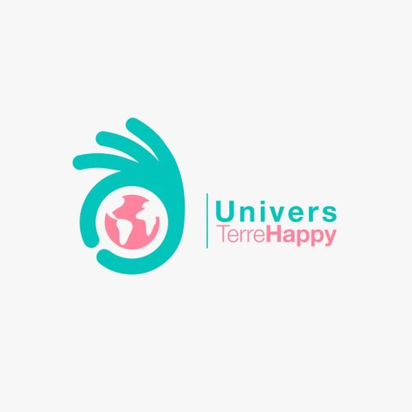 Création d'un logo pour univers terrehappy. Mehdi Mellouk, Réalisateur et Graphiste à La Rochelle.