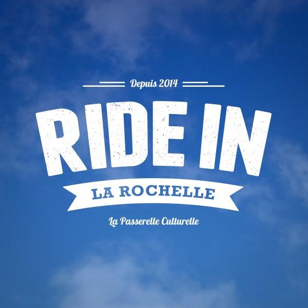 Création d'un logo pour ride in la rochelle, créateur d'évènement, passerelle culturelle. Mehdi Mellouk, Réalisateur et Graphiste à La Rochelle.